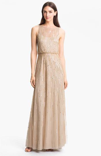 Aidan Mattox Illusion Yoke Sequin Mesh Gown   Where to buy & how to wear