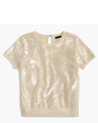 J.Crew Collection Sequin T Shirt