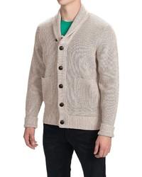 Barbour Beech Cotton Cardigan Sweater Shawl Collar