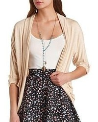Charlotte Russe Slouchy Pocket Knit Cocoon Cardigan