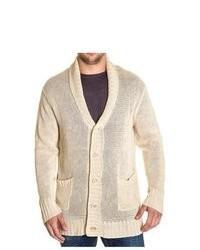 John Varvatos Beige Linen Collar Cardigan Sweater Size Xxl