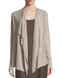 Lightweight linen melange cardigan natural medium 3697922