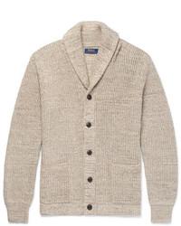 Shawl collar ribbed cotton cardigan medium 6873766