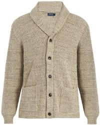 Polo Ralph Lauren Shawl Collar Ribbed Knit Cotton Cardigan