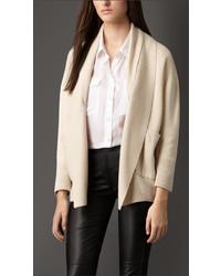 Burberry Shawl Collar Silk Cashmere Cardigan