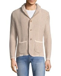Isaia Stripe Buttoned Cardigan