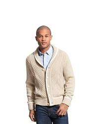Tommy hilfiger cable shawl neck cardigan medium 145470