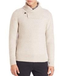 Billy Reid Basketweave Cashmere Wool Sweater