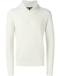Michael Kors Michl Kors Shawl Collar Ribbed Sweater