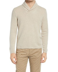 Vince Shawl Collar Slim Fit Cashmere Sweater