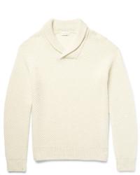 Club Monaco Shawl Collar Tuck Stitched Alpaca Sweater
