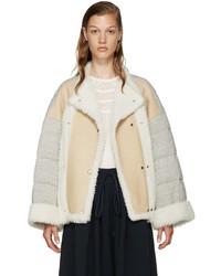Chloé Beige Shearling Jersey Coat