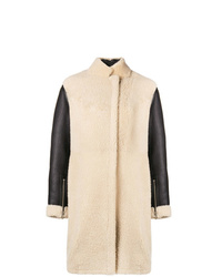 3.1 Phillip Lim Contrast Sleeve Shearling Coat