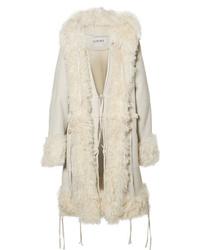 Loewe Oversized Hooded Shearling Coat
