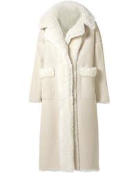 Oscar de la Renta Oversized Reversible Shearling Coat