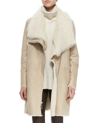 Beige Shearling Coats for Women | Women's Fashion