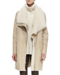 Beige Shearling Coats for Women | Women's Fashion
