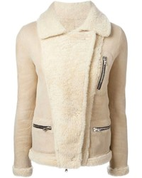 Beige shearling jacket original 10139945