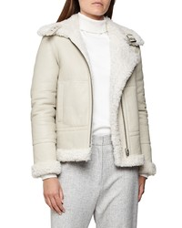 Reiss Clarice Reversible Genuine Shearling Coat