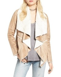 Faux shearling moto jacket medium 1055181