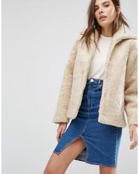 Warehouse Faux Shearling Jacket