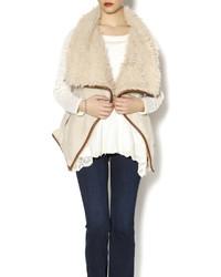 Beige shearling vest original 10322233