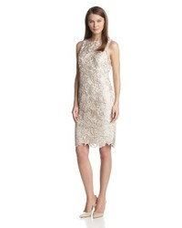 Beige Sheath Dress