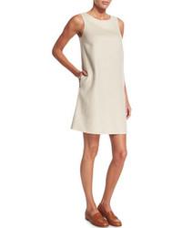 Loro Piana Alyce Asymmetric Seam Cashmere Shift Dress