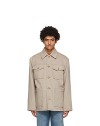 Acne Studios Beige Shirt Jacket