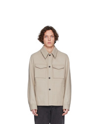 AMI Alexandre Mattiussi Off White Wool Buttoned Shirt Jacket