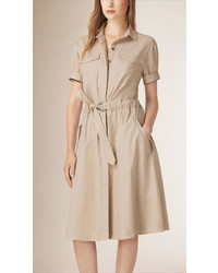 Burberry Cotton Military Shirt Dress