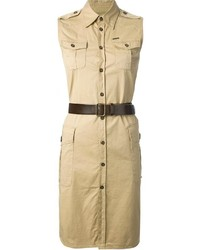Dsquared2 Military Shirt Dress