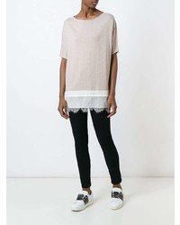 Fay Relaxed Lace Hem Blouse