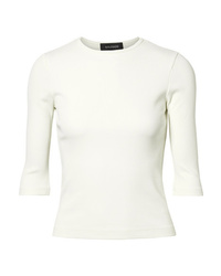 Goldsign The Rib Stretch Cotton Blend Jersey Top