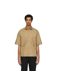 Neil Barrett Beige Double Pocket Oversized Shirt
