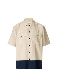 AMI Alexandre Mattiussi Camp Collar Chest Pockets Short Sleeves Shirt