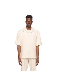 LE17SEPTEMBRE Off White Open Collar Shirt