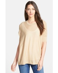 Nordstrom Collection Lula Open Stitched Yoke Pullover Sweater