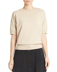 DKNY Cropped Short Sleeve Sweater