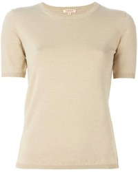 Women's Beige Short Sleeve Sweaters by P.A.R.O.S.H. | Women's Fashion
