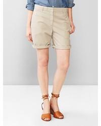 Gap Boyfriend Roll Up Khaki Shorts