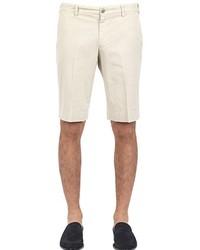Canali Stretch Textured Cotton Bermuda Shorts