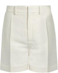 Chloé Chlo Tailored Linen Blend Shorts
