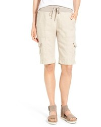 Drawstring waist bermuda cargo shorts medium 3665947