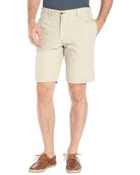 Tailor Vintage Khaki And Blue Reversible Cotton Woven Flat Front Shorts