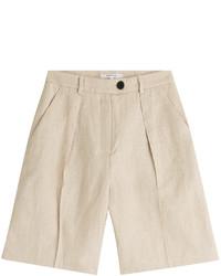 Carven Linen Bermuda Shorts
