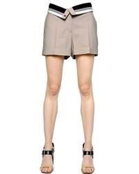 Maison Margiela Printed Silk Crepe Shorts