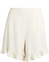 See by Chloe See By Chlo Ruffled Hem Crepe Shorts