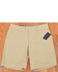 Tommy Hilfiger Shorts Beige Shore Khaki 100% Cotton Casual New 4318