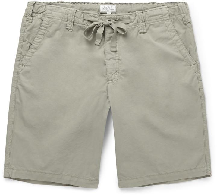 Slim-fit Cotton-twill Drawstring Shorts Hartford yiN0fS